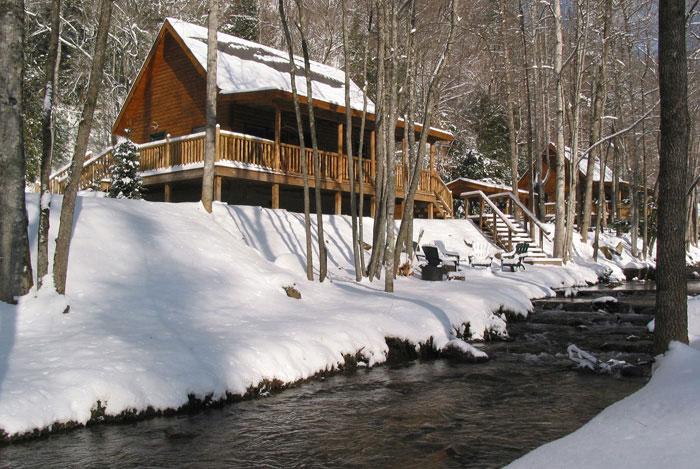Christmas At Bryson City Nc Cabin Rentals Lands Creek